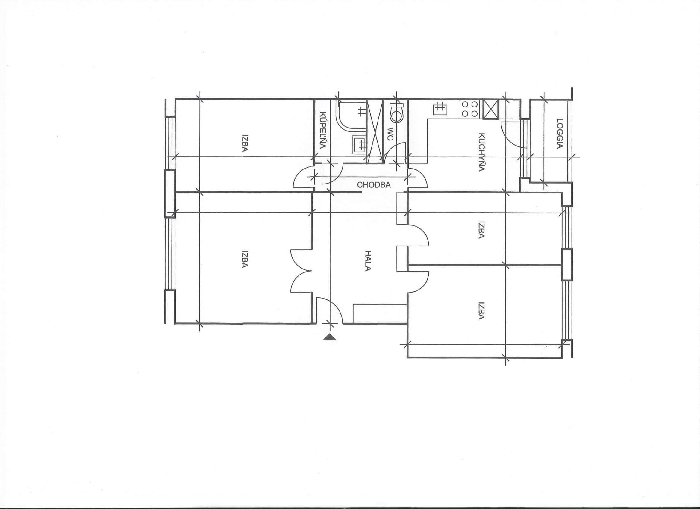Na predaj 4 izbový byt v4-poschodovom bytovom dome svýťahom ulica Vyšehradská, Bratislava.-17