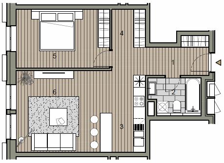 Novostavba 2 izbový byt, širšie centrum v Bratislave, Beskydská ulica, 56,85m2, štandard.-10