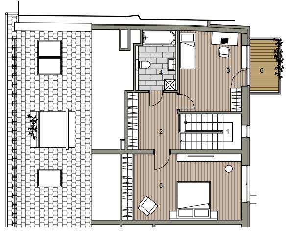 Novostavba Mezonet 4 izbový, širšie centrum v Bratislave, Beskydská ulica, 118,12m2, balkón a logia spolu 19,94m2, štandard.-6