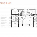 NOVOSTAVBA Apartmán 2 IZBOVÝ, na dvoch podlažiach, M-HOUSE, MALACKY CENTRUM, 58,89M2-6