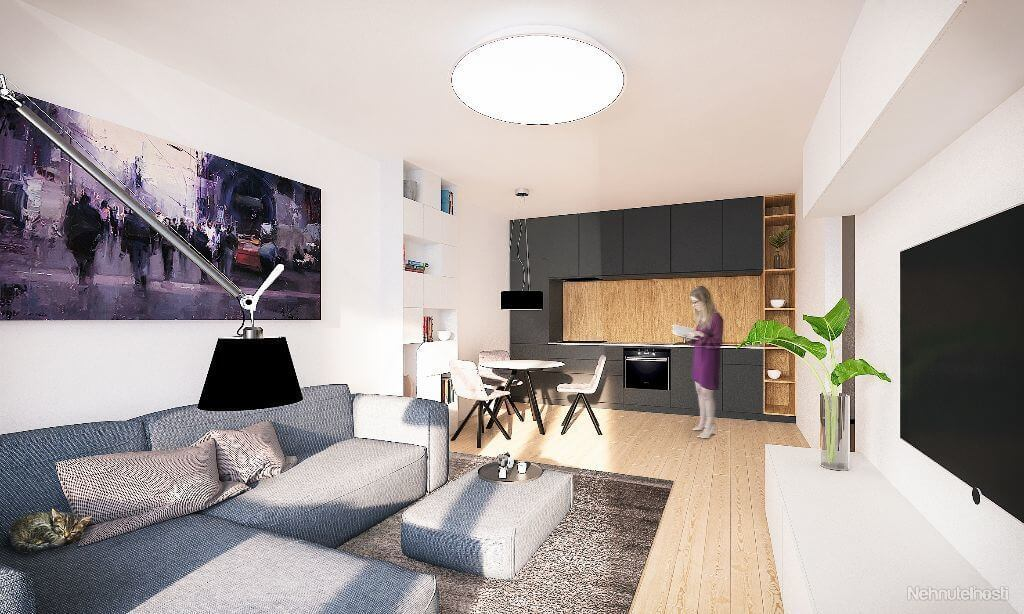 NOVOSTAVBA Apartmán 2 IZBOVÝ, na dvoch podlažiach, M-HOUSE, MALACKY CENTRUM, 58,89M2-12