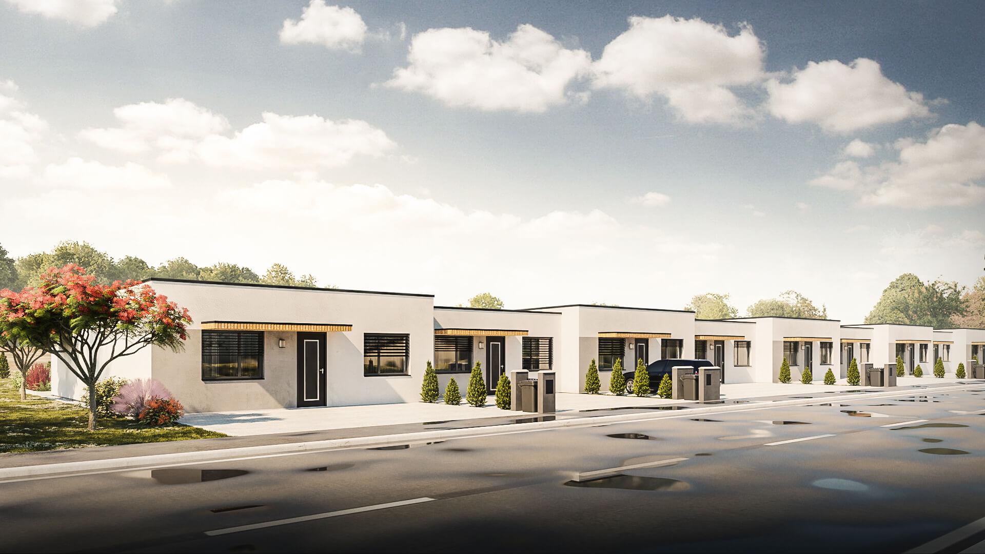 Predané: Novostavba bungalov radovka, 4 izbový, pozemok 300m2, užitkova 75m2-1