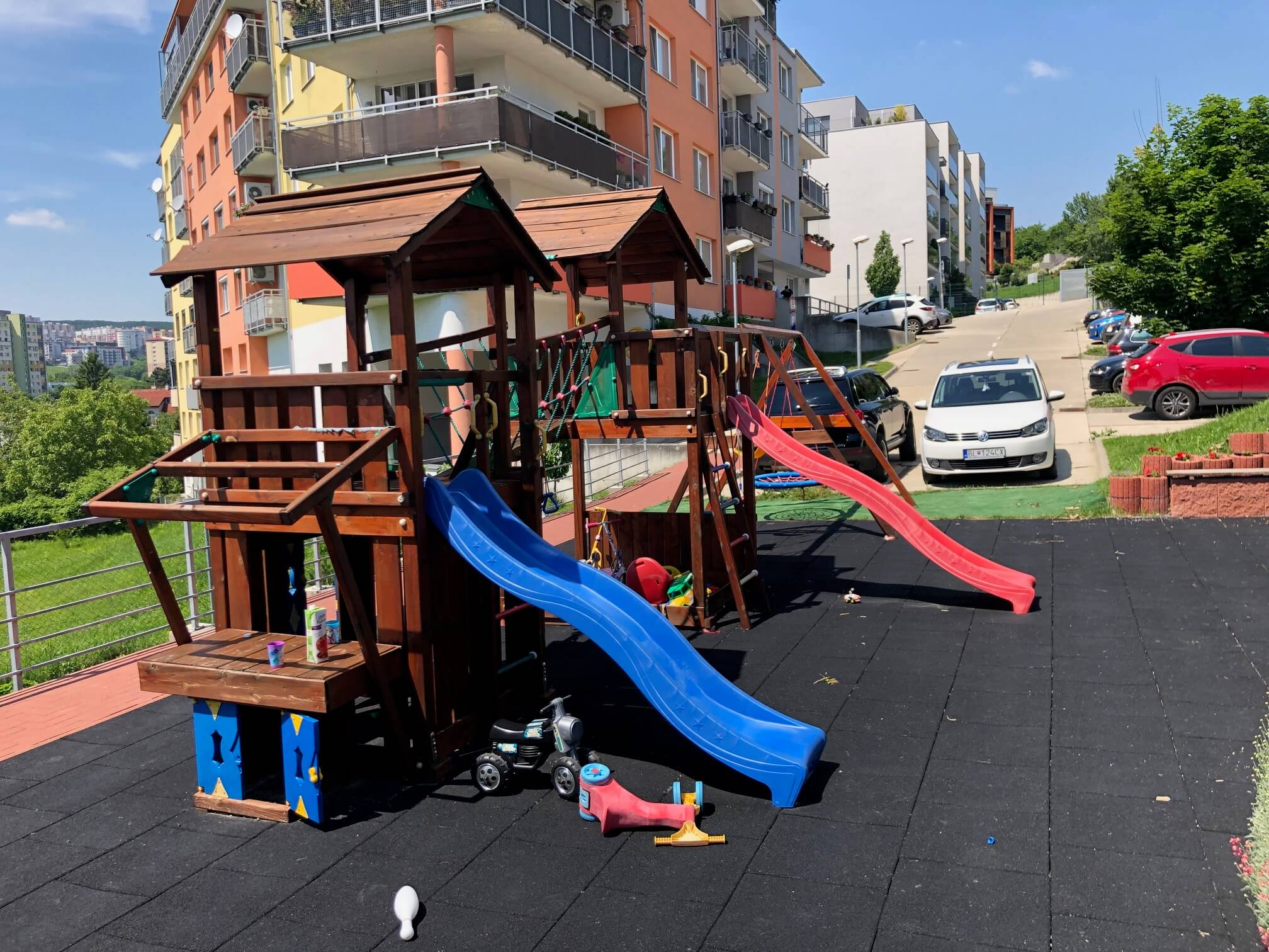 Rezervované: 3 izbový byt, novostavba, 72,25m2, loggia 4,82m2, Staré Grunty, Karlovka, garážové státie-54