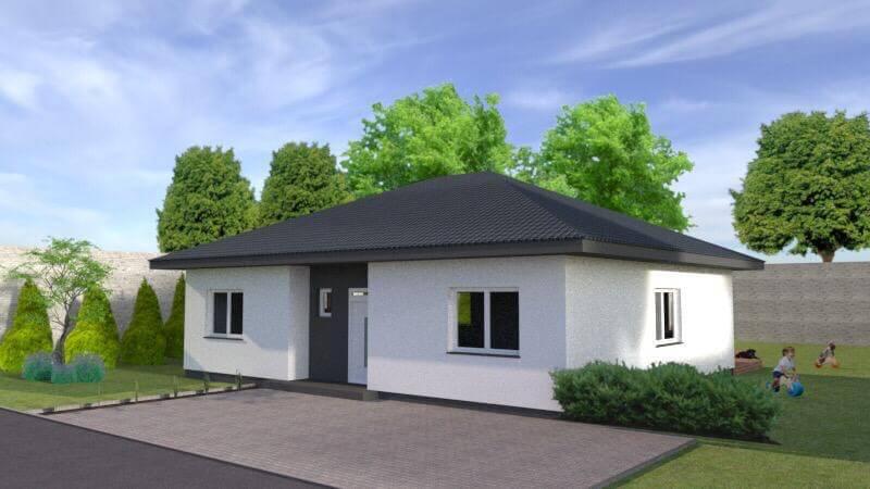 Exkluzívne 4 izbový Rodinný dom BUNGALOV 116m2, Miloslavov, pozemok 600m2-2