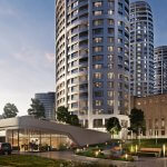 2 izbový byt v Sky parku, I Veža, 6 nadzemné podlažie, úžitková 46,28 m2 ,Loggia 4,75m2, parkovanie-46