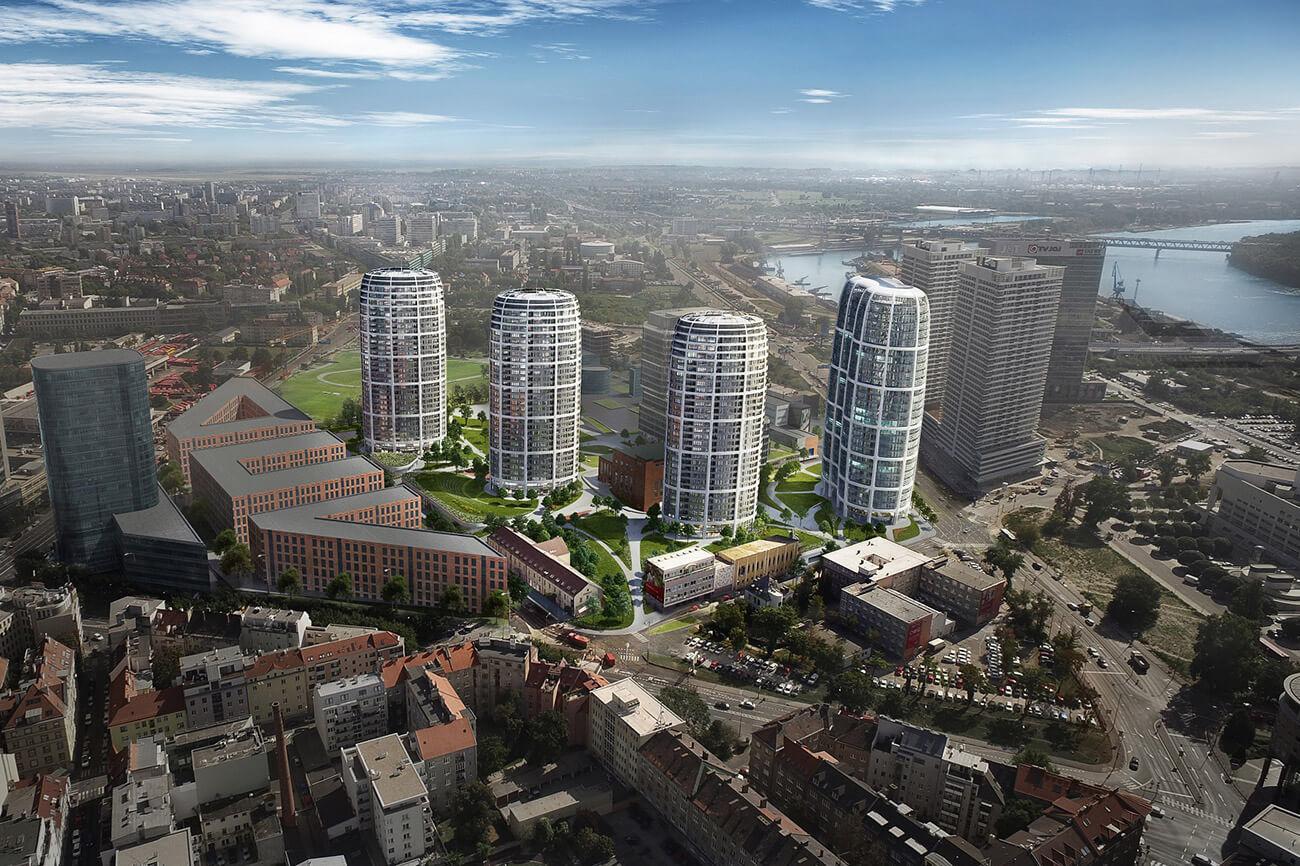 2 izbový byt v Sky parku, I Veža, 6 nadzemné podlažie, úžitková 46,28 m2 ,Loggia 4,75m2, parkovanie-36
