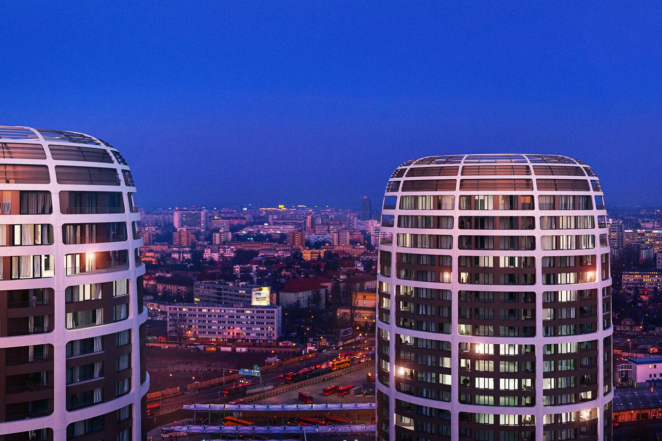 2 izbový byt v Sky parku, I Veža, 6 nadzemné podlažie, úžitková 46,28 m2 ,Loggia 4,75m2, parkovanie-37