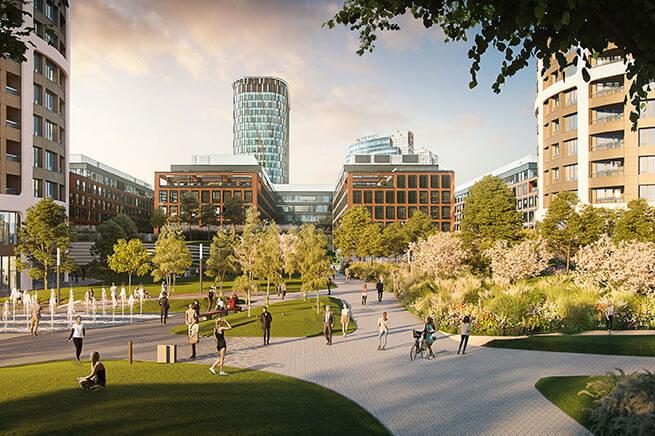 2 izbový byt v Sky parku, I Veža, 6 nadzemné podlažie, úžitková 46,28 m2 ,Loggia 4,75m2, parkovanie-39