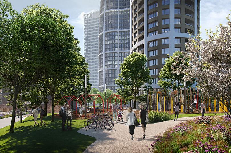 2 izbový byt v Sky parku, I Veža, 6 nadzemné podlažie, úžitková 46,28 m2 ,Loggia 4,75m2, parkovanie-41