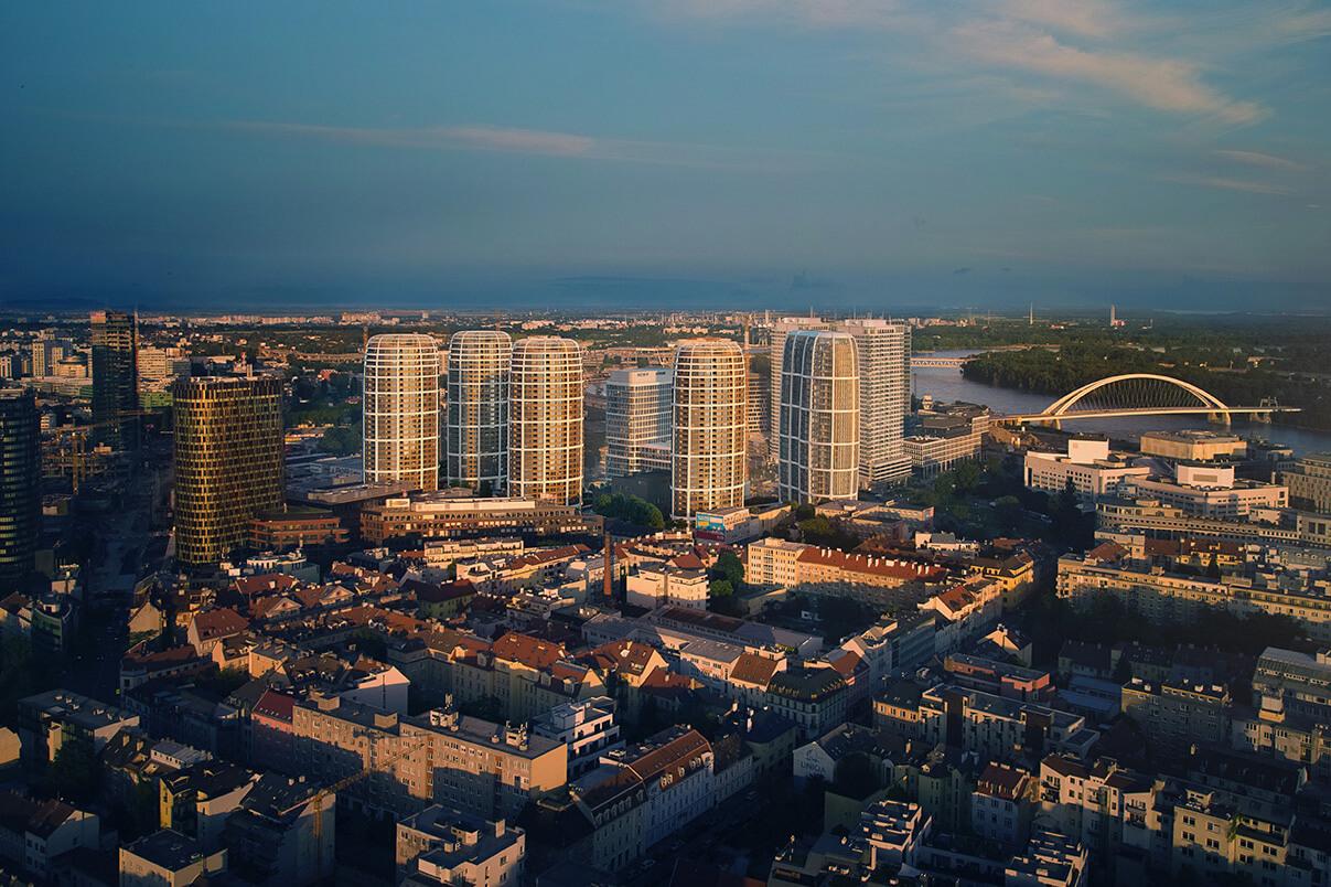 2 izbový byt v Sky parku, I Veža, 6 nadzemné podlažie, úžitková 46,28 m2 ,Loggia 4,75m2, parkovanie-43