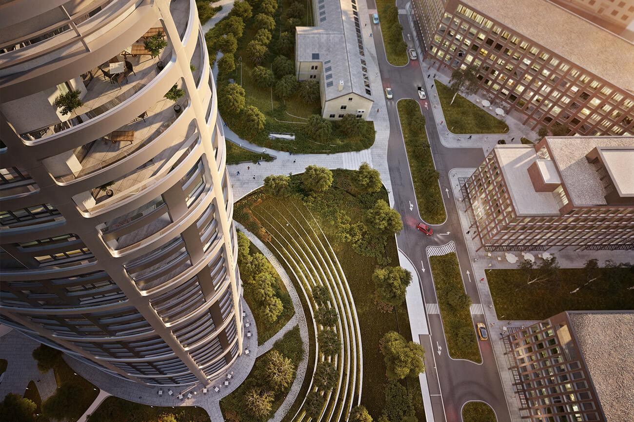 2 izbový byt v Sky parku, I Veža, 6 nadzemné podlažie, úžitková 46,28 m2 ,Loggia 4,75m2, parkovanie-44
