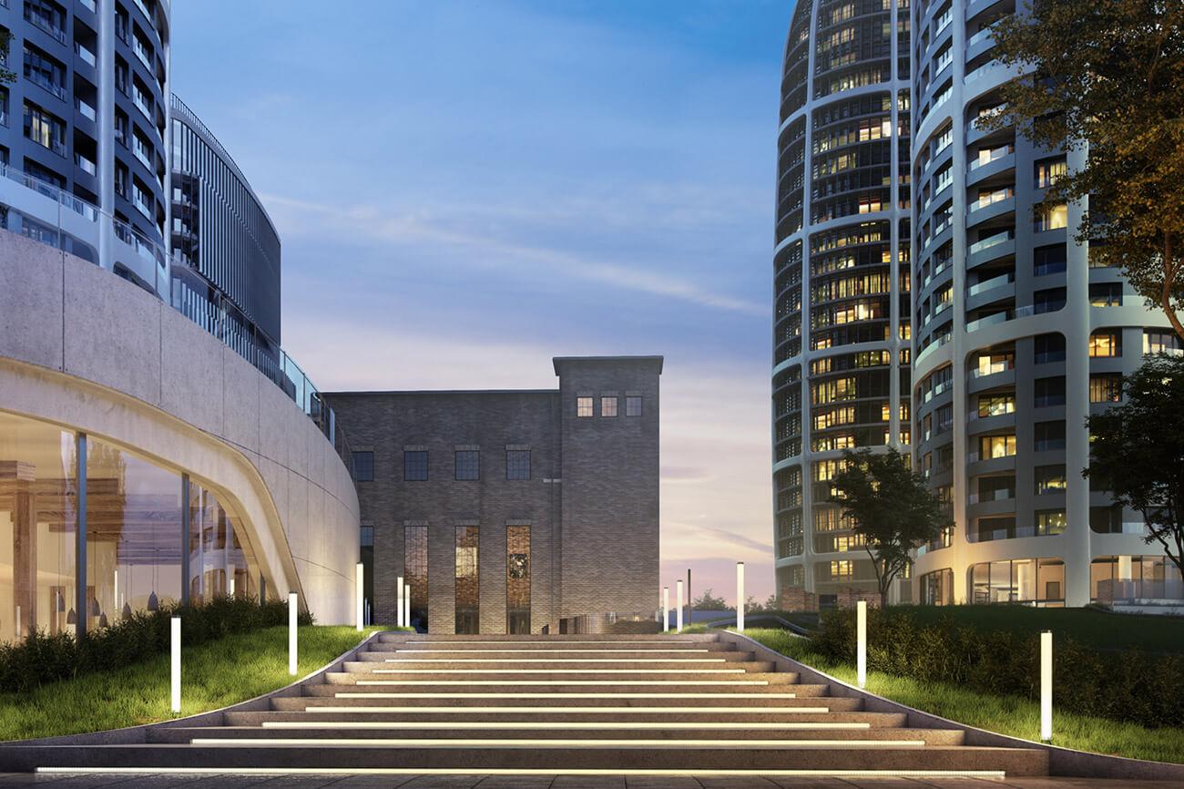 2 izbový byt v Sky parku, I Veža, 6 nadzemné podlažie, úžitková 46,28 m2 ,Loggia 4,75m2, parkovanie-35