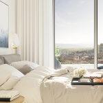 2 izbový byt v Sky parku, I Veža, 6 nadzemné podlažie, úžitková 46,28 m2 ,Loggia 4,75m2, parkovanie-24