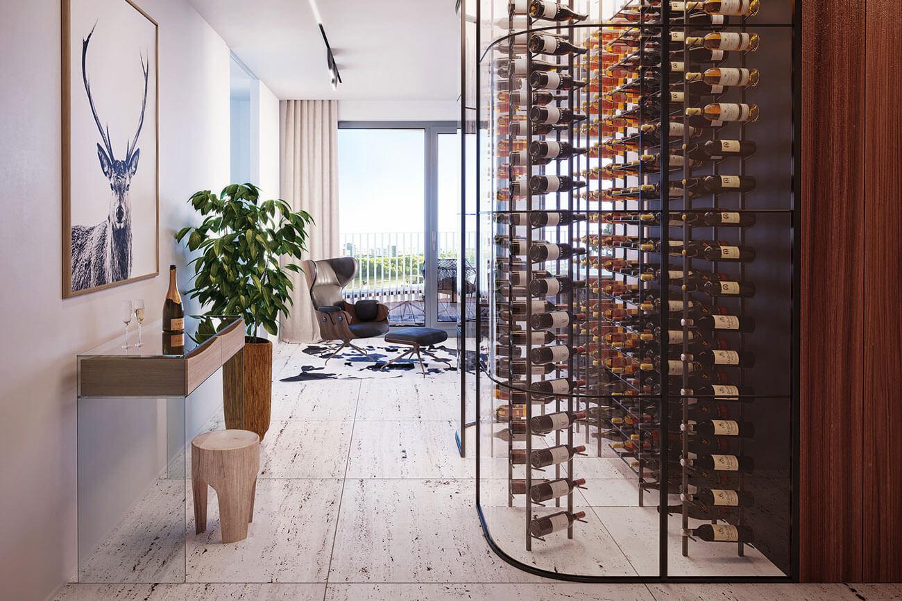 2 izbový byt v Sky parku, I Veža, 6 nadzemné podlažie, úžitková 46,28 m2 ,Loggia 4,75m2, parkovanie-29