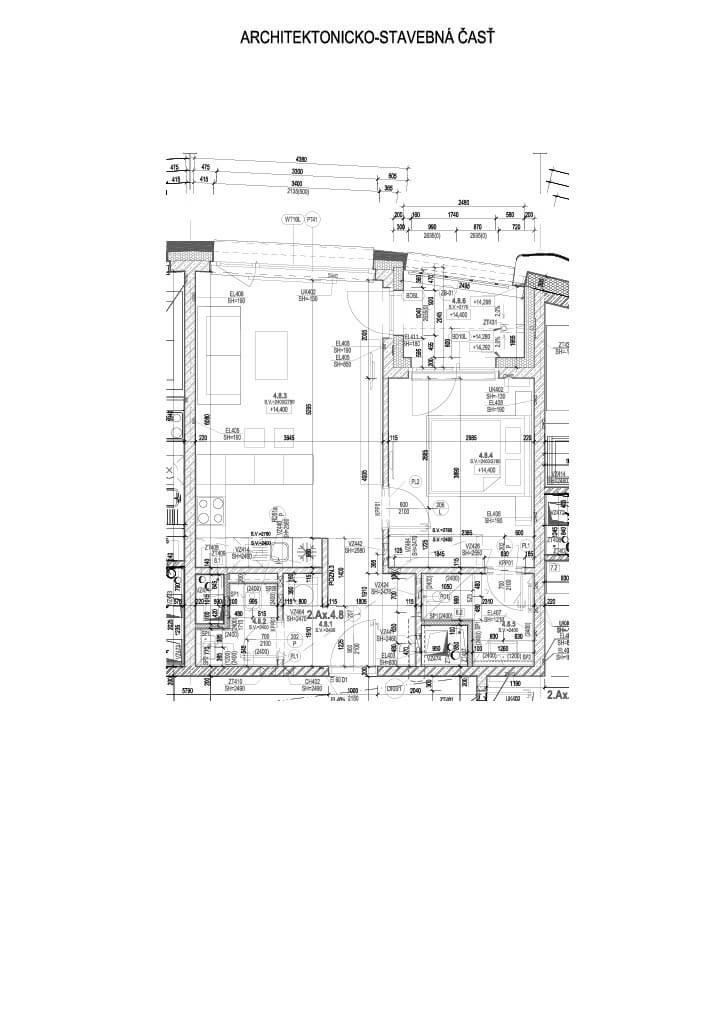 2 izbový byt v Sky parku, I Veža, 6 nadzemné podlažie, úžitková 46,28 m2 ,Loggia 4,75m2, parkovanie-18