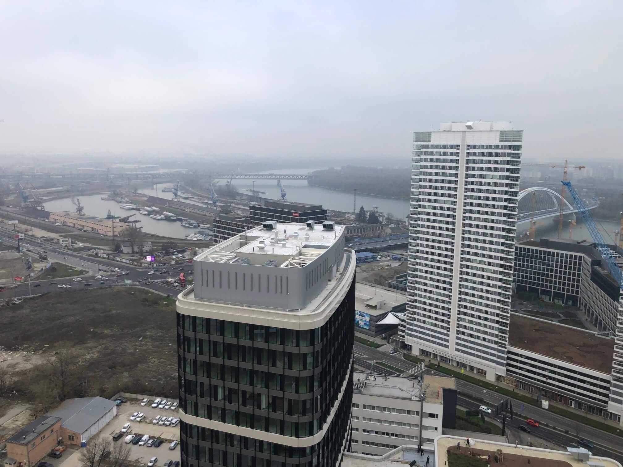 2 izbový byt v Sky parku, I Veža, 6 nadzemné podlažie, úžitková 46,28 m2 ,Loggia 4,75m2, parkovanie-4
