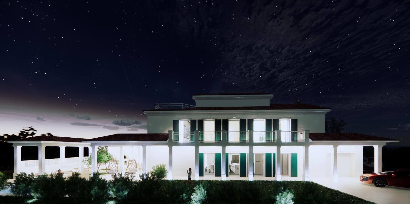 Veľký rozostavaný rodinný dom, 3NP spolu 355,13m2,pozemok 650m2,Novalja, na ostrove Pag, Chorvátsko-6