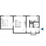 Exkluzívne na predaj zrekonštruovaný 2 izbový byt, 48m2, Fedáková 12, Dúbravka, pri OC Saratov-6